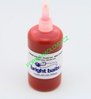 BRIGHT BAITS-FLUORESCENT RED TRANSPARENT