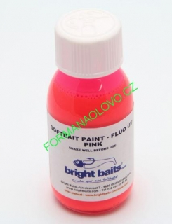 BRIGHT BAITS-SOFTBAIT PAINT FLUO PINK 30ML.